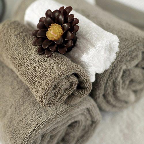 serviette de salle de bain