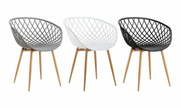 chaises scandinaves MARGO pas cher