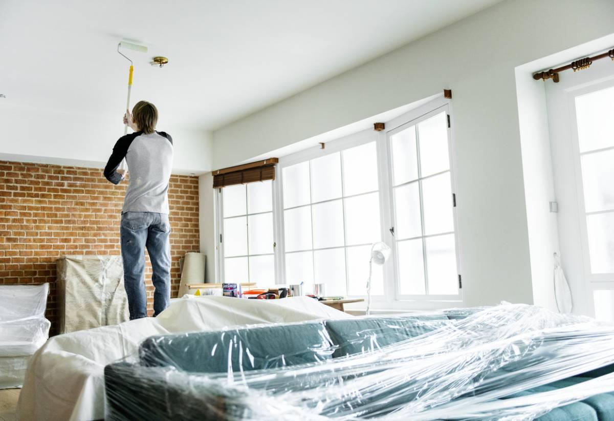 Comment peindre un plafond soi m me efnudat - Video comment peindre un plafond ...