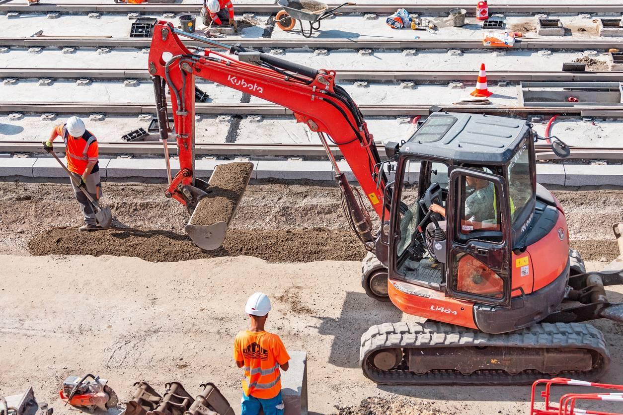 terrassement construction bâtiment