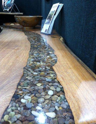 table zen résine epoxy bois