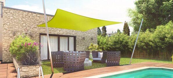 voile jardin ombrage bord piscine